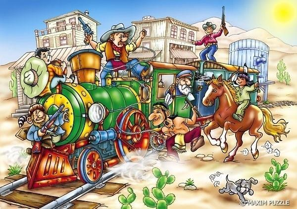 Grote foto western express 150 stukjes kinderen en baby puzzels