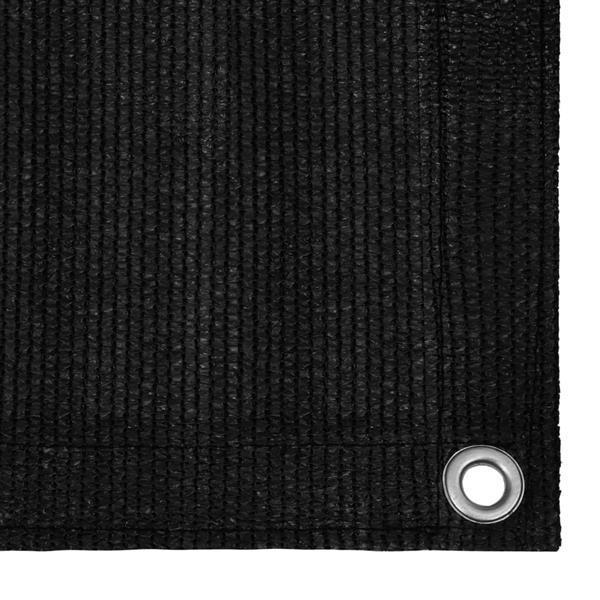 Grote foto vidaxl tenttapijt 250x550 cm zwart caravans en kamperen kampeertoebehoren