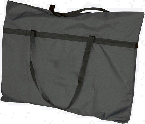Grote foto draagtas campingstoel 100 x 80 cm polyester grijs zwart caravans en kamperen tenten