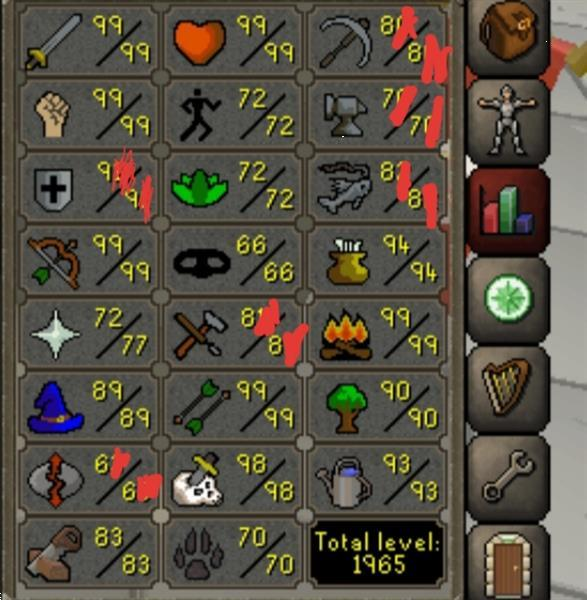 Grote foto osrs main account 121 cb 98 slayer spelcomputers games overige