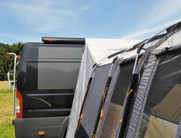 Grote foto bustent silverstone 2 persoons polyester staal grijs caravans en kamperen overige caravans en kamperen