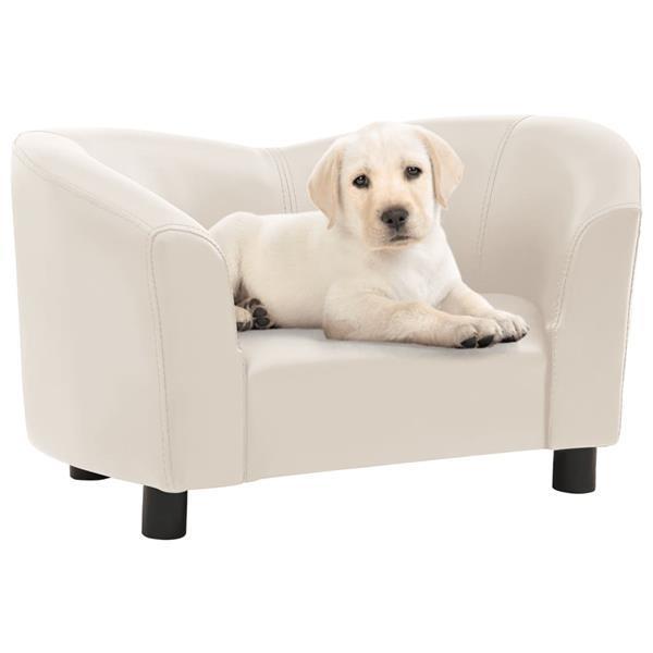 Grote foto vidaxl hondenbank 67x41x39 cm kunstleer cr mekleurig dieren en toebehoren toebehoren