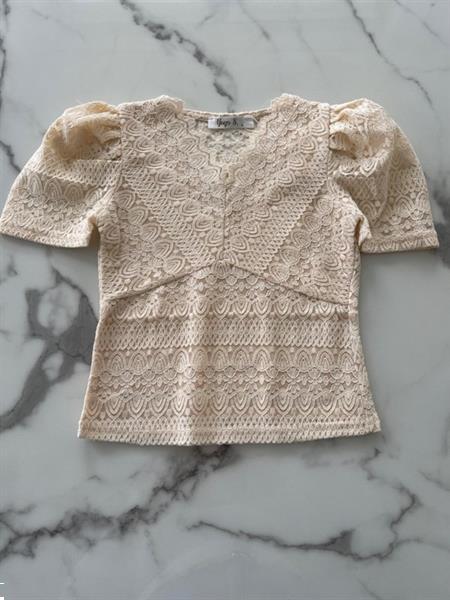 Grote foto shirtje met kant zandkleur kinderen en baby overige