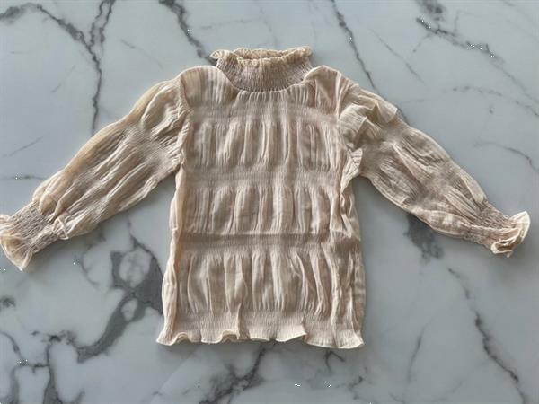 Grote foto blouse met gouden glitters beige kinderen en baby overige