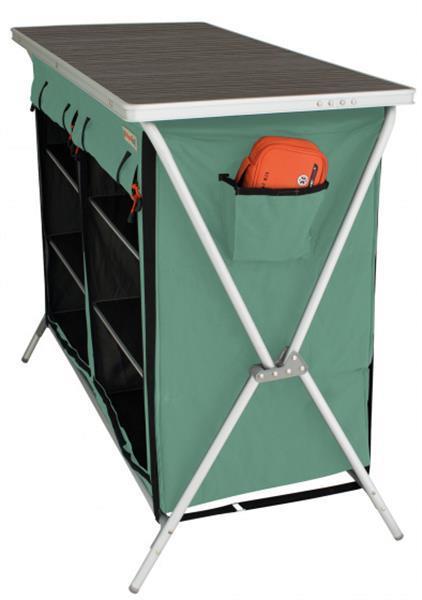 Grote foto campingkast brocas 110 x 52 x 90 cm aluminium groen zwart caravans en kamperen caravan accessoires