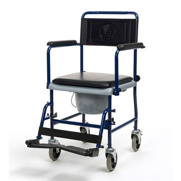 Grote foto toiletstoel verrijdbaar blauw diversen verpleegmiddelen en hulpmiddelen