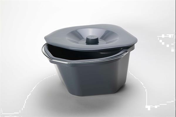 Grote foto toiletstoel grijs zachte zit en rug diversen verpleegmiddelen en hulpmiddelen