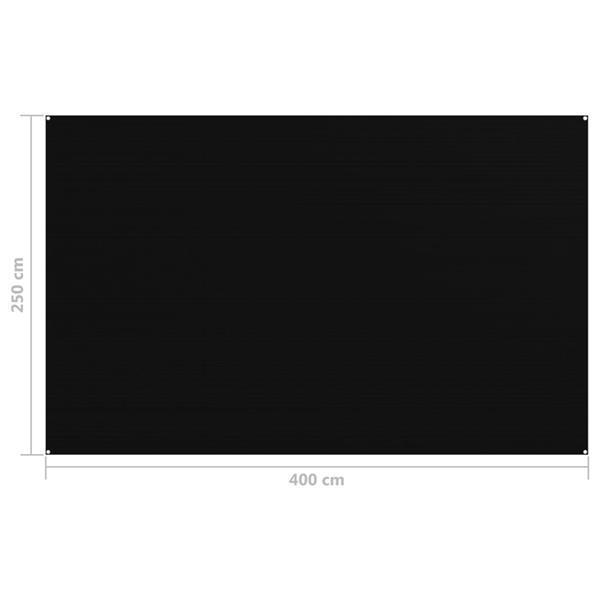 Grote foto vidaxl tenttapijt 250x400 cm zwart caravans en kamperen kampeertoebehoren