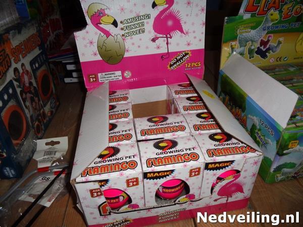 Grote foto 10x flamingo ei in display kinderen en baby overige