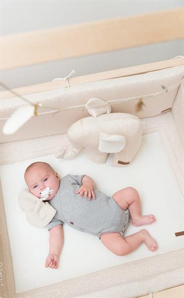 Grote foto bedomrander sparkle melee zilvergrijs baby only kinderen en baby complete kinderkamers