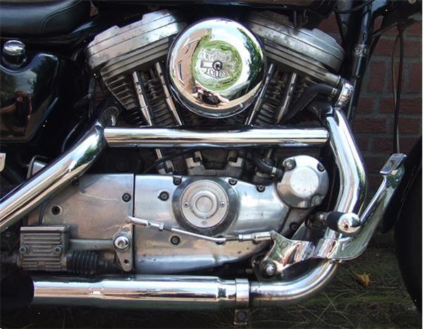 Grote foto mooie sportster 883 van 1990 motoren harley davidson