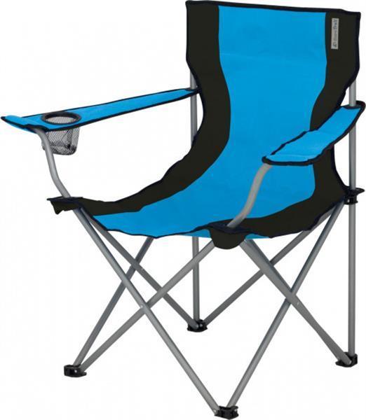 Grote foto campingstoel lausanne 80 cm polyester lichtblauw caravans en kamperen caravan accessoires