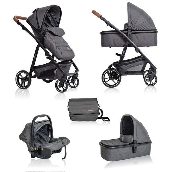 Grote foto babygo simplex combi kinderwagen grijs melange incl. au kinderen en baby kinderwagens