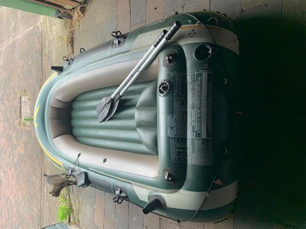 Grote foto leuke rubberboot seahawk 3 3 keer mee gevaren. watersport en boten roeiboten