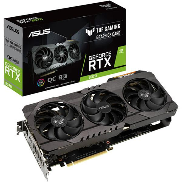 Grote foto asus tuf gaming geforce rtx 3070 oc graphics card spelcomputers games overige games