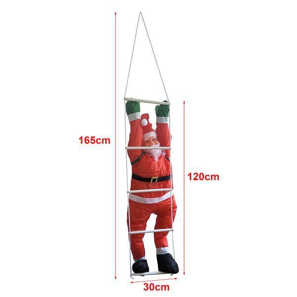 Grote foto klimmende kerstman 120 cm op ladder 180x50 cm diversen overige diversen