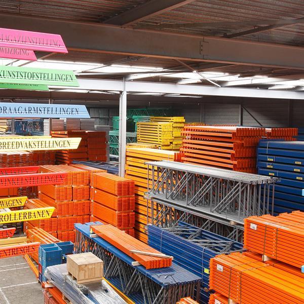 Grote foto gebruikte palletstelling liggers en frames zakelijke goederen magazijn stelling en opslag