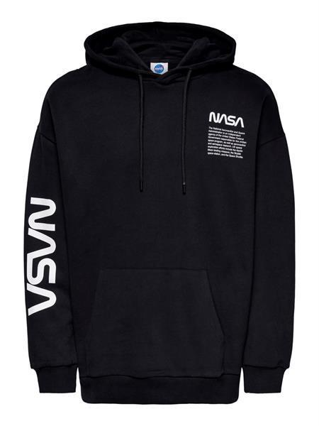 Grote foto only sons nasa life rlx hoodie zwart kledingmaat s kleding heren truien en vesten