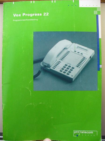 Grote foto programmeerhandl. en gebr.handl. vox progress 22 telecommunicatie toebehoren en onderdelen