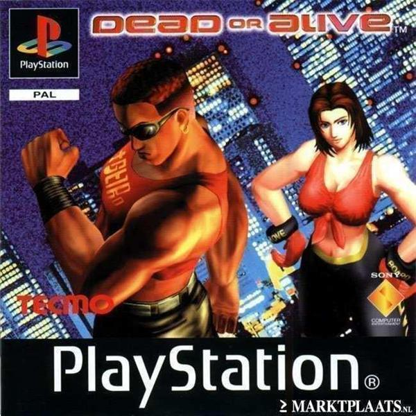 Grote foto ps1 dead or alive spelcomputers games playstation