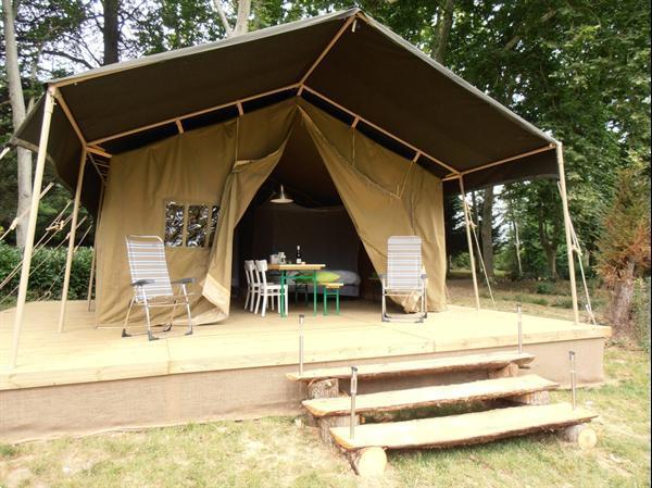 Grote foto safaritent huren op kleine campings in frankrijk vakantie frankrijk