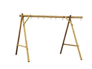 Grote foto schommel van rond hout voor 2 3 of 4 accessoires kinderen en baby los speelgoed