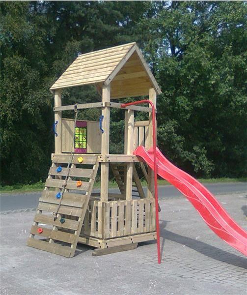 Grote foto speeltoestel met brandweerstang klimwand kinderen en baby speeltoestellen en speelhuisjes