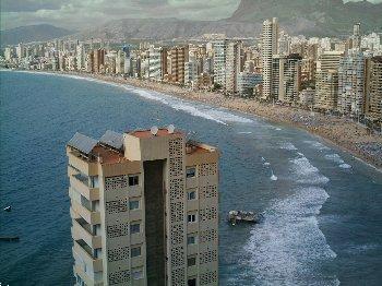 Grote foto benidorm don miguel ii panoramisch zeezicht vakantie spaanse kust