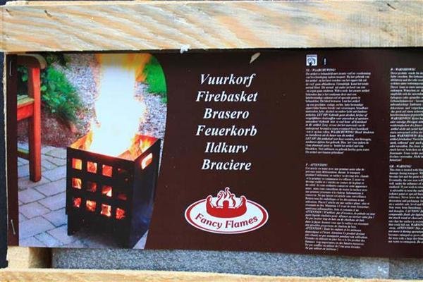 Grote foto vuurkorf vierkant modern in draagkistje hobby en vrije tijd huis en inrichting