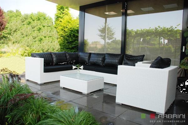 Grote foto loungeset wit 8x lazybear funky aanbieding tuin en terras tuinmeubelen