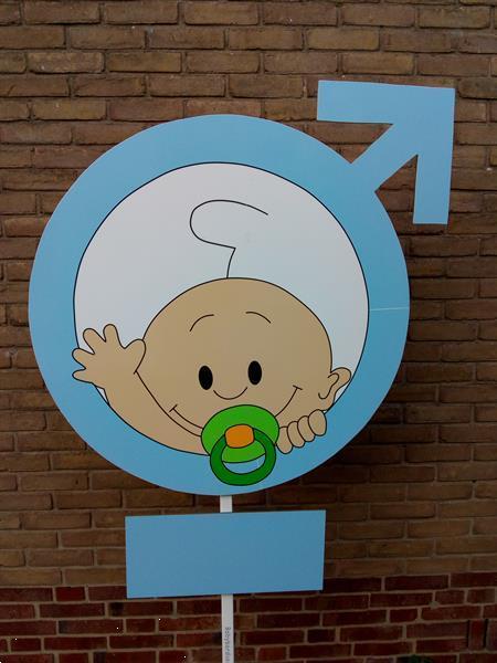 Grote foto geboortebord westervoort symbool jongetje kinderen en baby overige babyartikelen
